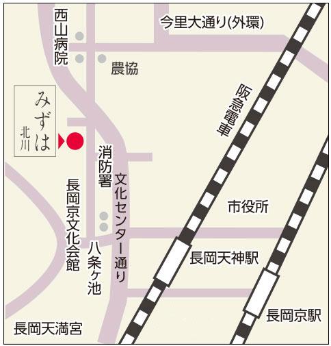 みずは北川本店の地図