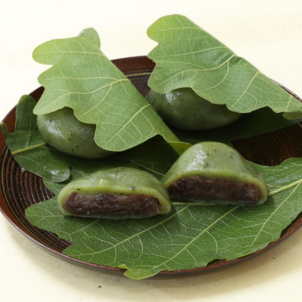 かしわ餅(草・粒あん)